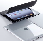 Simplism Apple製Smart coverを装着したiPad 2 専用ハードカバー クリスタルクリア TR-SBCIPD2-CC